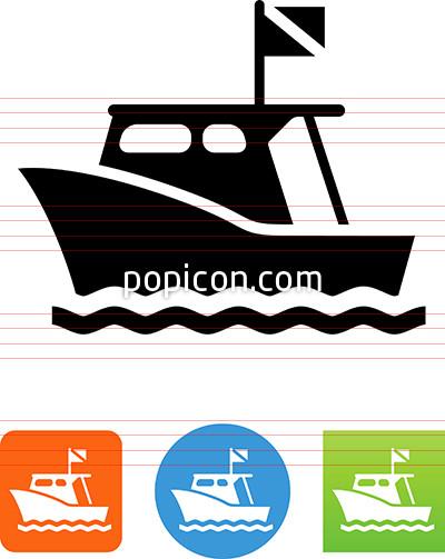 Dive clipground icon. Boat clipart scuba