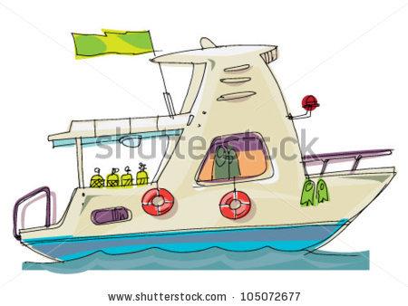 Boat clipart scuba. Dive clipground diver cartoon