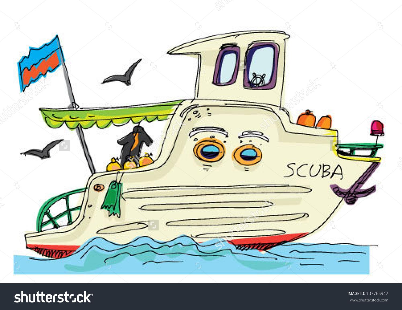 Boat clipart scuba. Cartoon tugboat alleghany trees