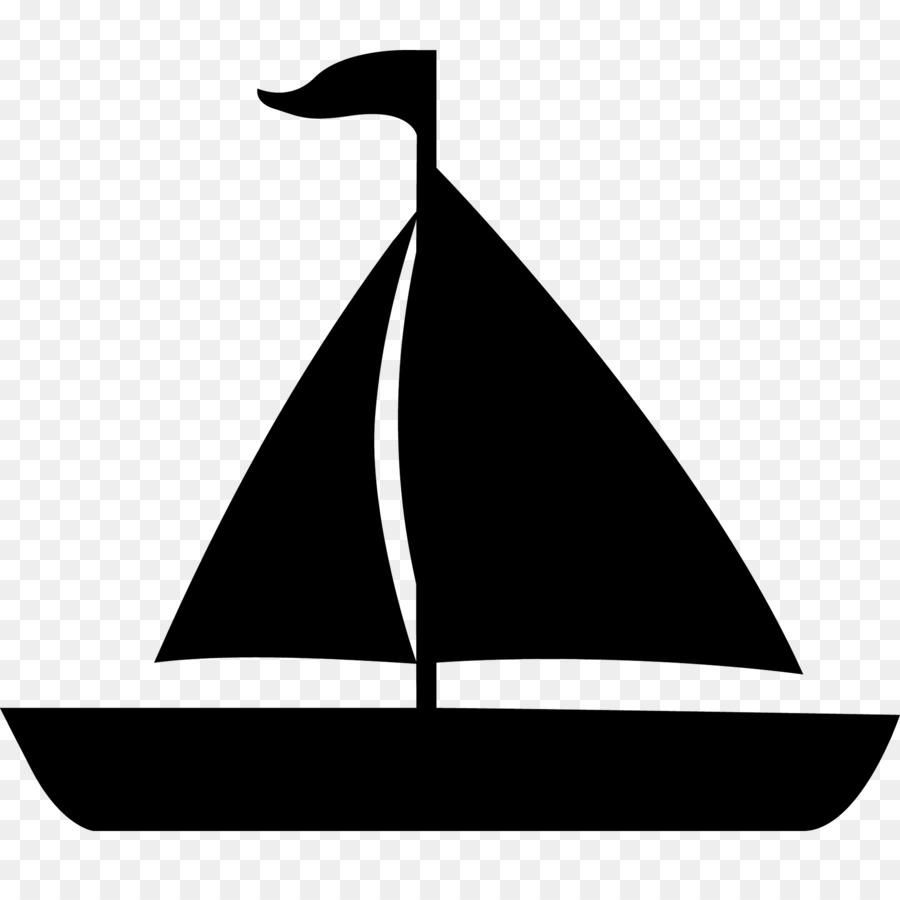 Cartoon sailboat line . Boat clipart silhouette