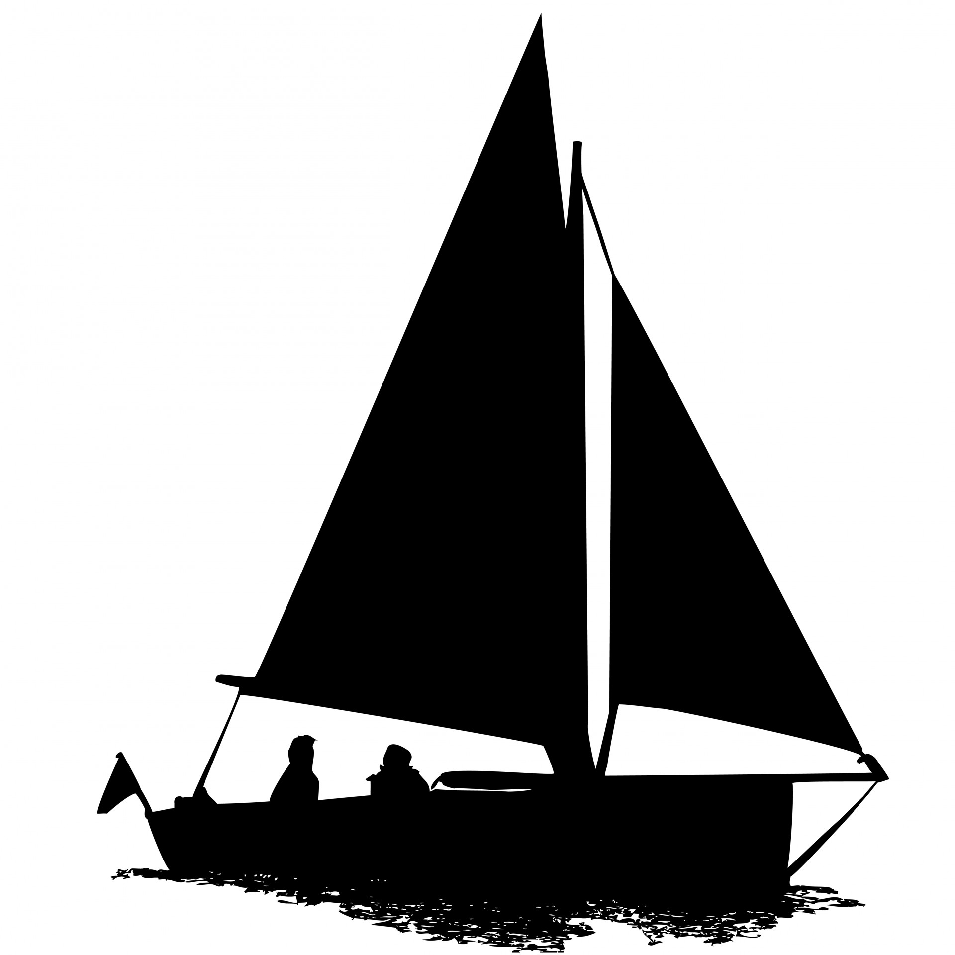 Boat clipart silhouette. Sailing free stock photo