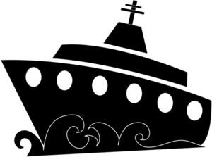 Boat clipart silhouette. Ocean at getdrawings com