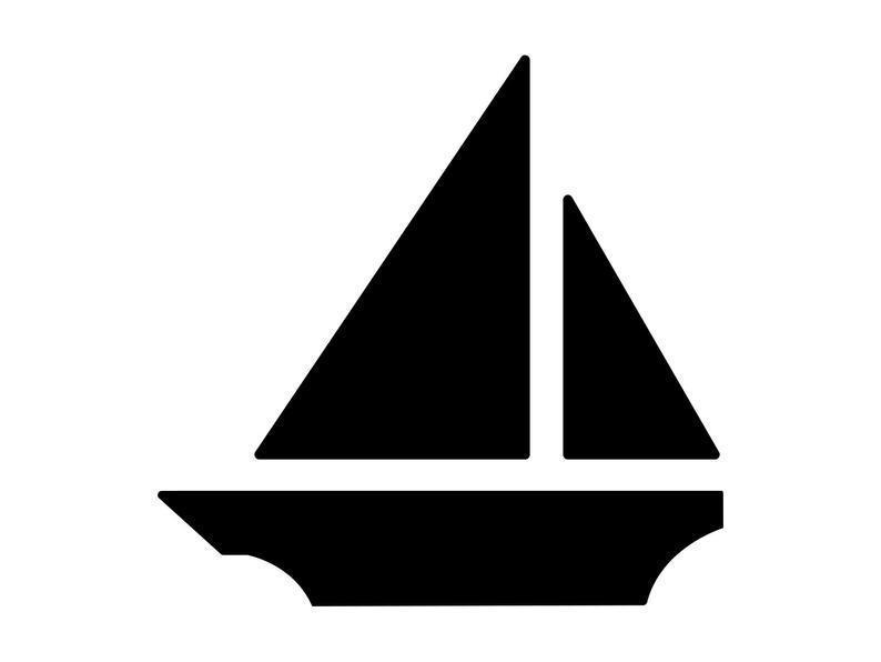 Boat clipart silhouette. Sail svg cricut kids