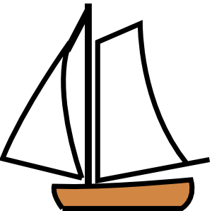 Sailing boat clip art. Boating clipart easy