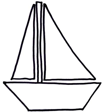 Boats clipart outline. Free simple boat cliparts