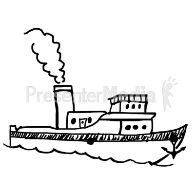 Boat clipart sketch. Single presentation great for