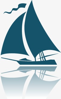 There are sail transportation. Boat clipart sketch