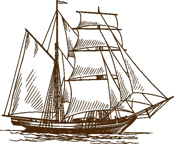 Sailing ship kid ocean. Boat clipart sketch