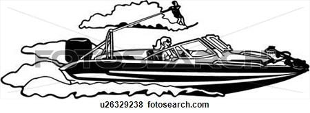 Graphic . Boat clipart ski boat