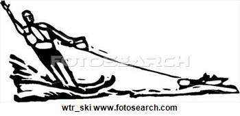 Water . Boat clipart ski boat