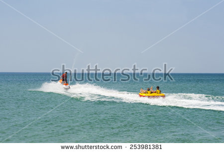 Pulling woman skier . Boat clipart ski boat