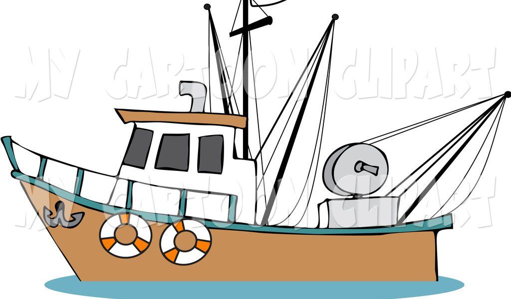 Boats clipart skiff. Fishing boat silhouette at