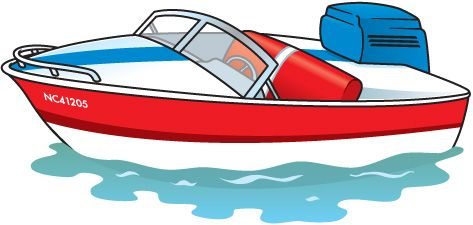 Motor . Boating clipart speed boat