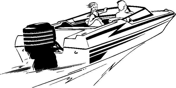 Boat clipart speed boat. Black and white letters