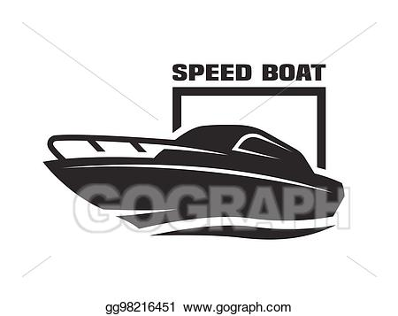 Eps vector logo stock. Boat clipart speed boat