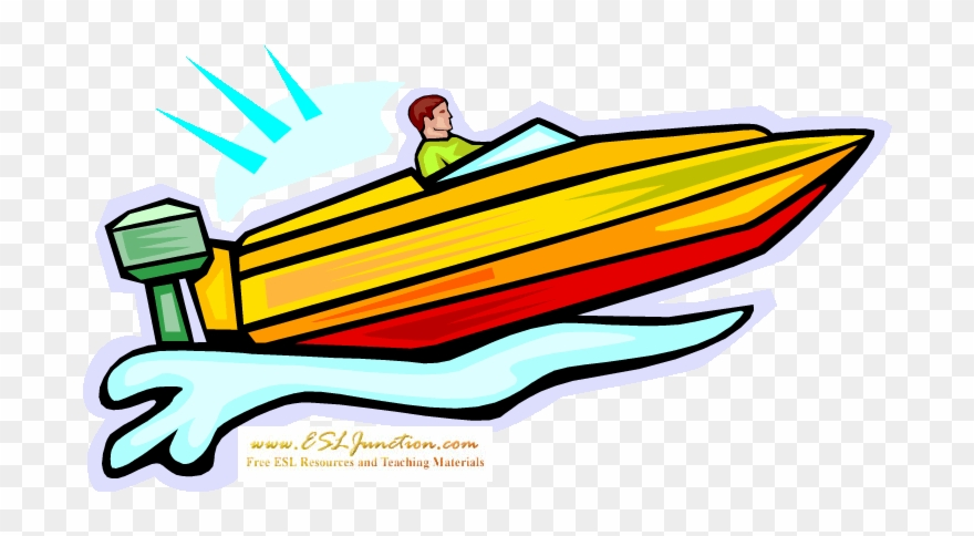 Speedboat clip art png. Boating clipart speed boat