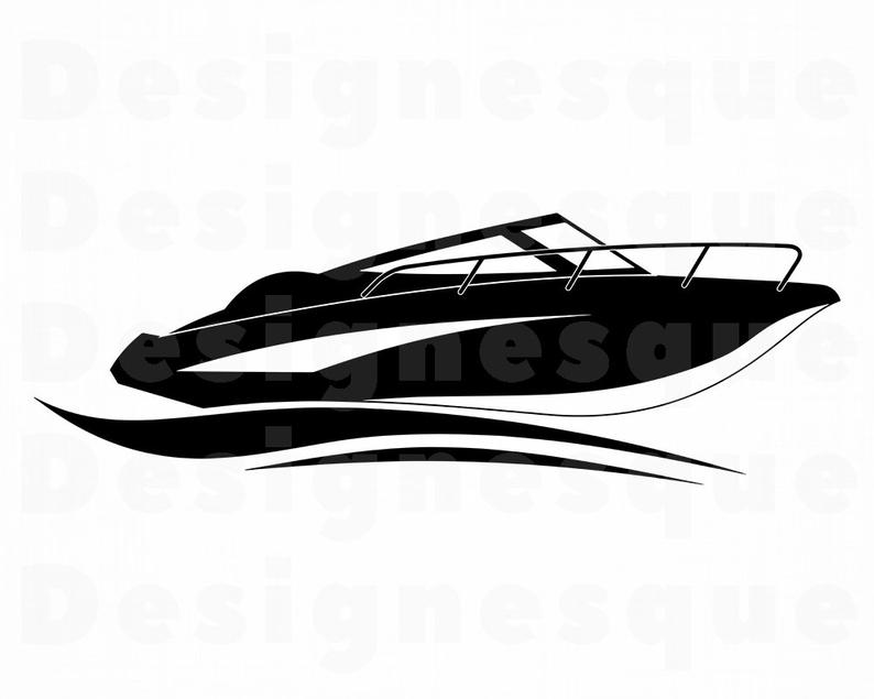 Boat clipart speed boat. Svg yacht motor files