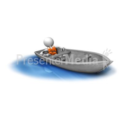 Adrift in small boat. Boats clipart stick figure