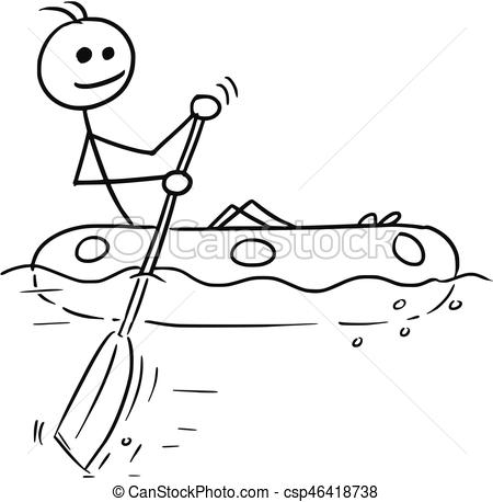 Sailing pencil and in. Boat clipart stick figure