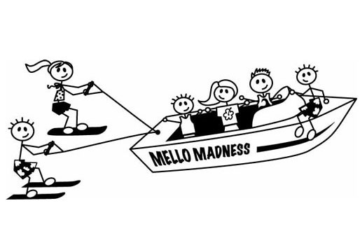 Fully custom family scene. Boat clipart stick figure