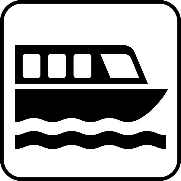 Map symbols clip art. Boat clipart symbol