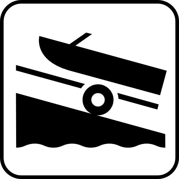Boat clipart symbol. Map symbols trailer clip