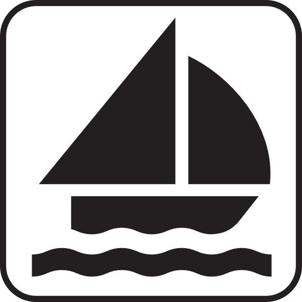 Clipart boat symbol. Sailing clip art free