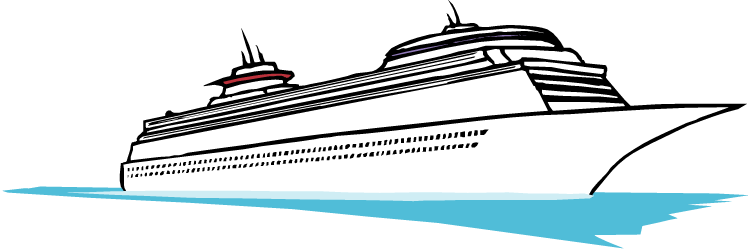 Pencil and in color. Boat clipart transparent background