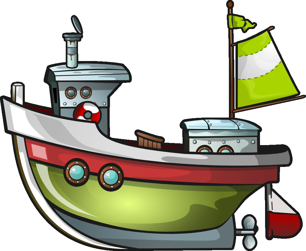 Best of fishing gallery. Boat clipart tugboat