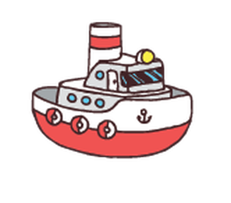 Boat clipart tugboat. Colorful dump truck toy
