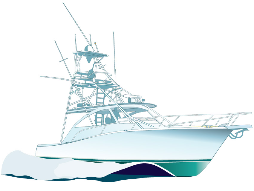 Boat clipart vector. Illustrations of sport fishing