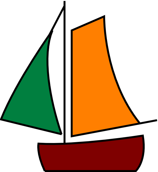 Sailing Boat White Clip Art at Clker