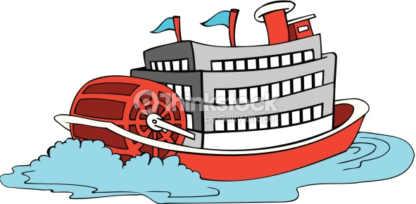 Boat clipart vector. On river clipground paddle