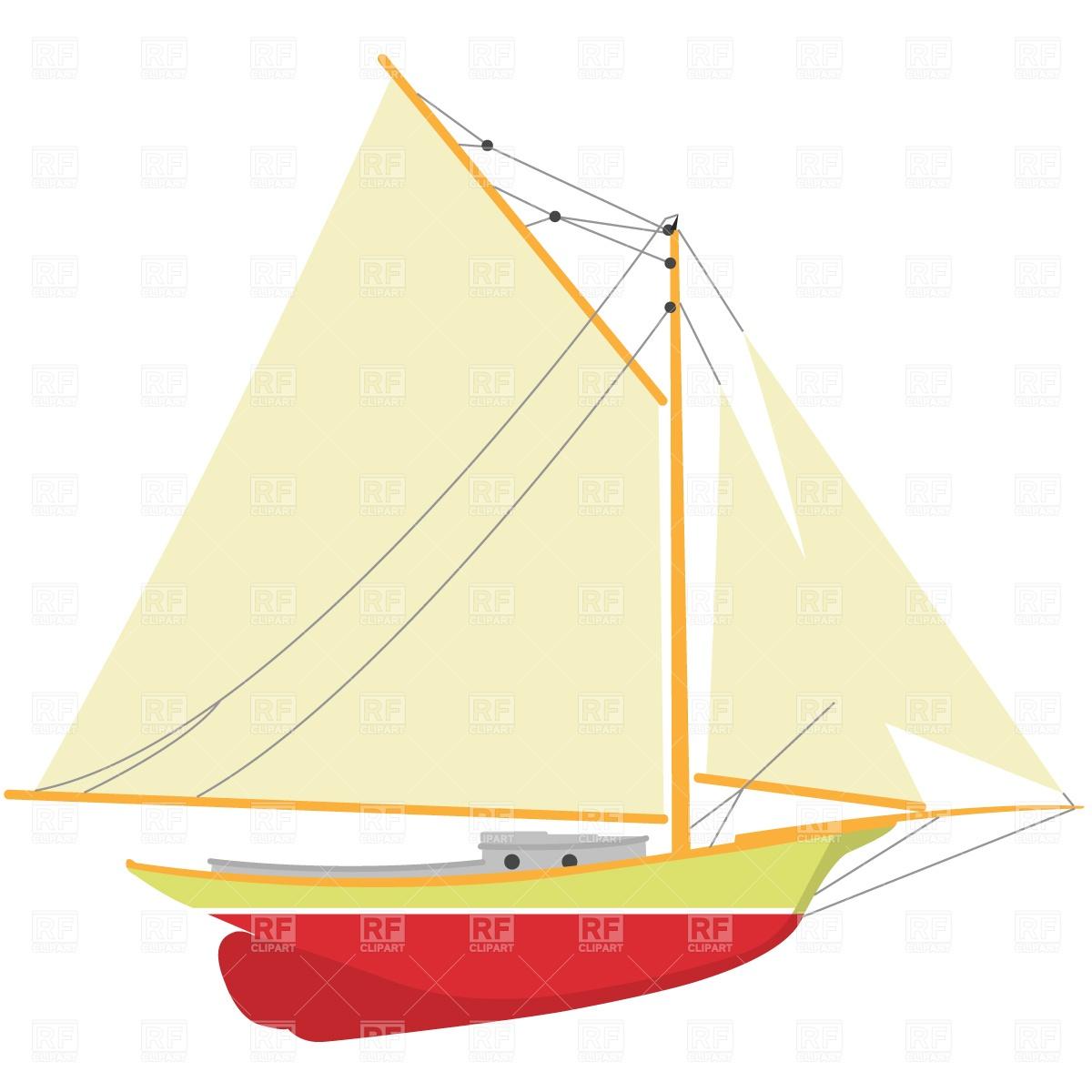 Sailing big pencil and. Boat clipart vector