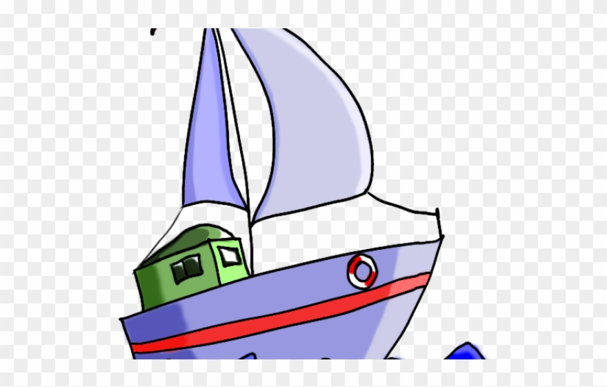 Sailboat transportation sailing cartoon. Boat clipart water transport