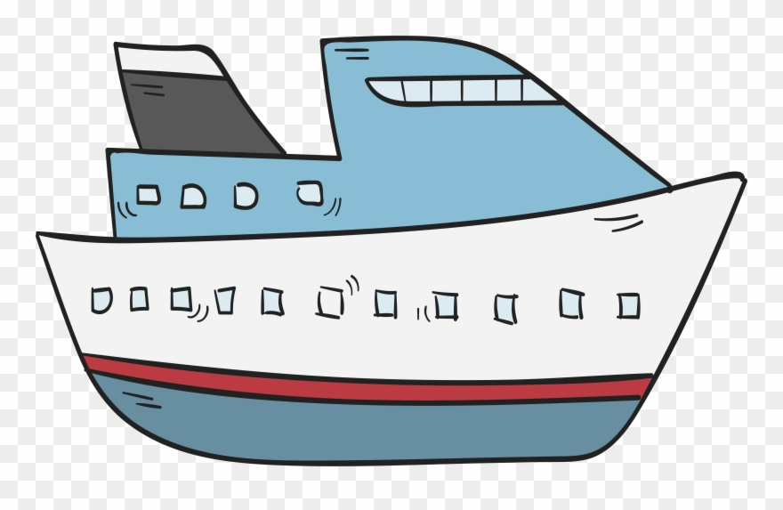 Cruise drawing of . Boating clipart water transportation