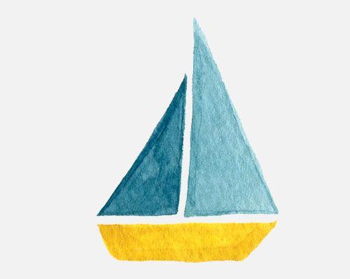 Boat clipart watercolor.  best art images