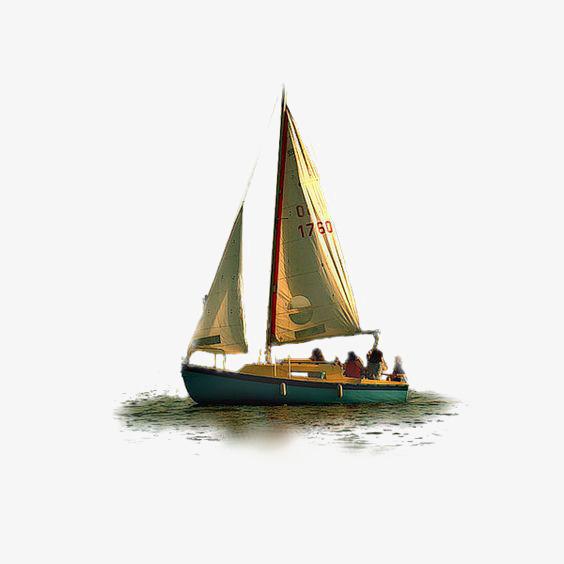 Wooden boat creative sail. Boats clipart watercolor