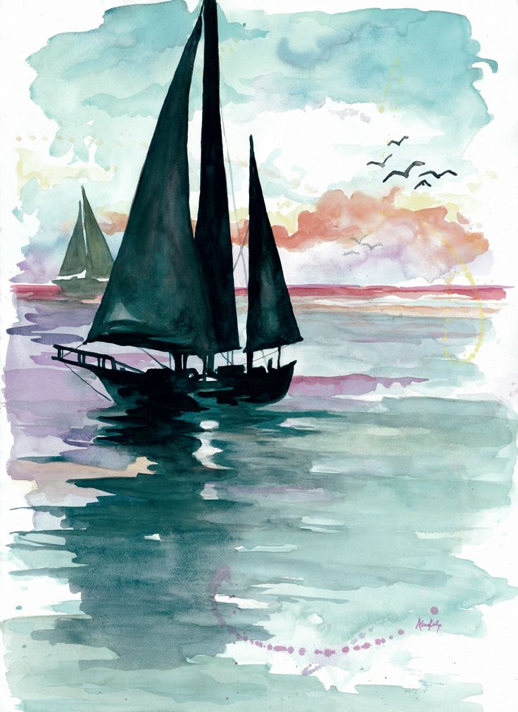 Boat clipart watercolor.  best on beach
