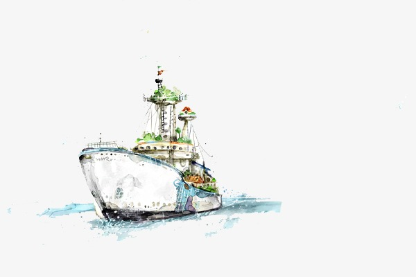Forward go ahead ferry. Boats clipart watercolor