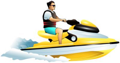 Vector fishing jet and. Boats clipart ski boat
