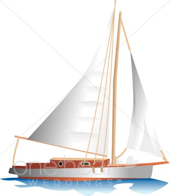 Boat clipart yacht. Wood and white sailboat