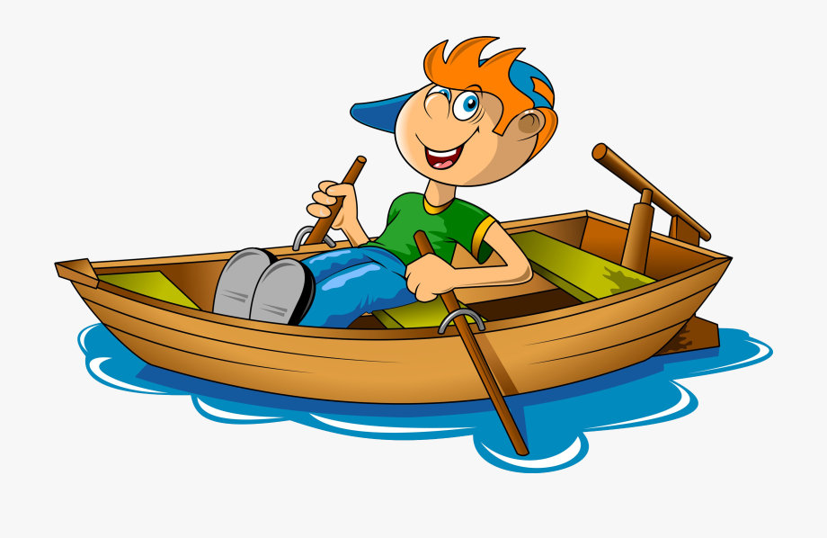 Canoe river rowing boat. Boating clipart