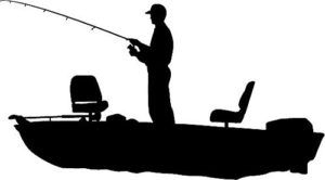 Like idea of silhouette. Boating clipart bass boat