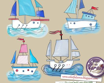 Boating clipart bass boat. Clip art etsy nautical