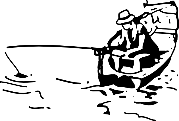 Boat clipart outline. Fishing clip art at