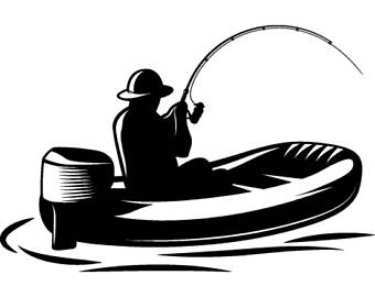 Clip art etsy fishing. Boating clipart bass boat
