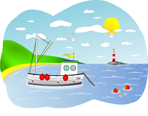 I royalty free public. Boating clipart beach
