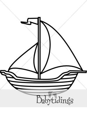 Black and white boat. Boating clipart beach