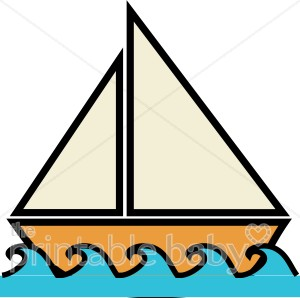 Boat on water beach. Boats clipart watercraft